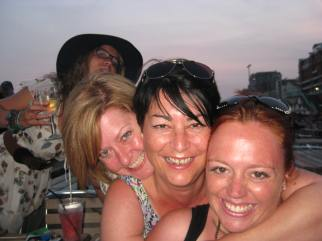 Hayley, Colette, Me and Kelly in Brighton, 2013